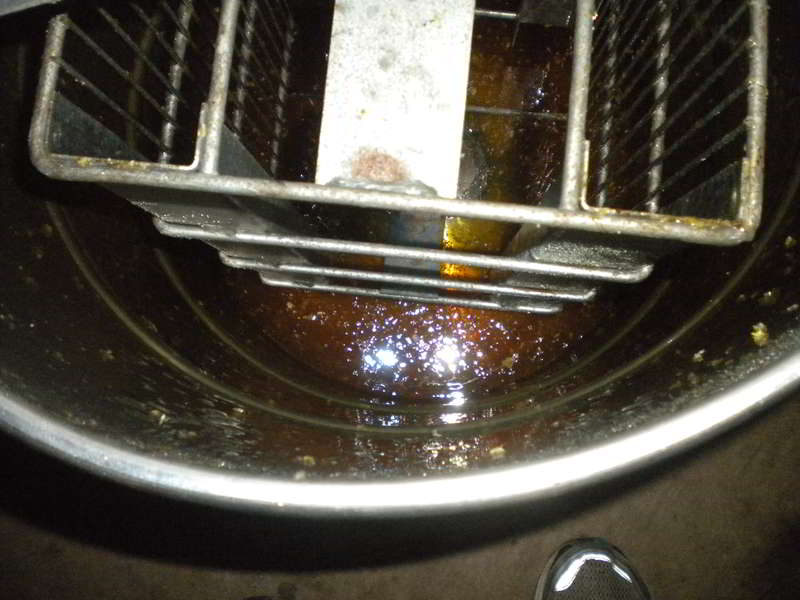 honey in separator