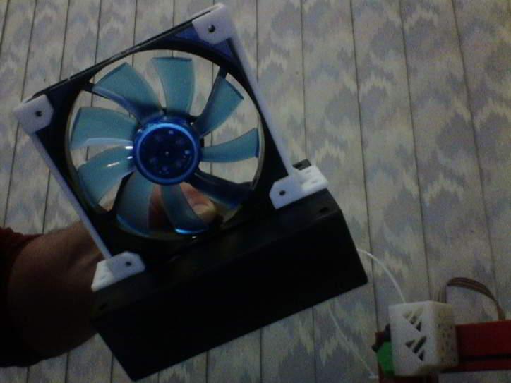 brackets with fan